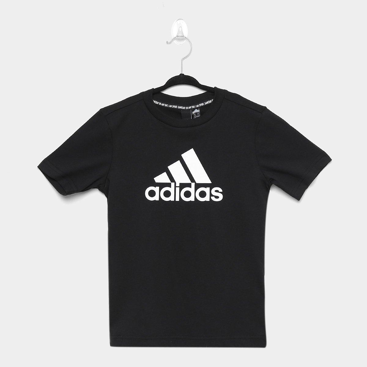 Camiseta Infantil Adidas Mh Bos Yb Manga Curta Masculina - Tam: 12-13A