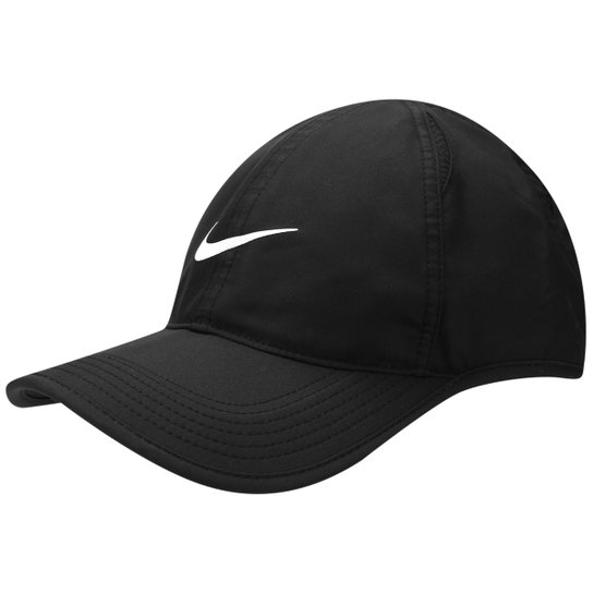 210f7ea441 Boné Nike Aba Curva Featherlight - Preto