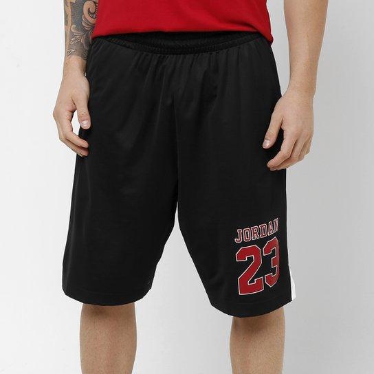 Short Nike Jordan Rise - Preto+Vermelho 7630f36776a