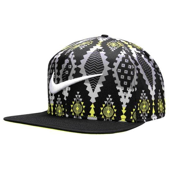 b4ce2f9037e8a Boné Nike Nsw Tribe Pro - Preto+Verde Limão