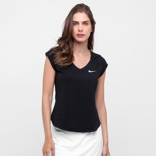 Camiseta Nike Pure Feminina - Preto e Branco - Compre Agora  071534af96142