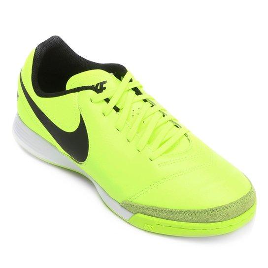 d2f153c9a7d52 Chuteira Futsal Nike Tiempo Genio 2 Leather IC - Verde claro
