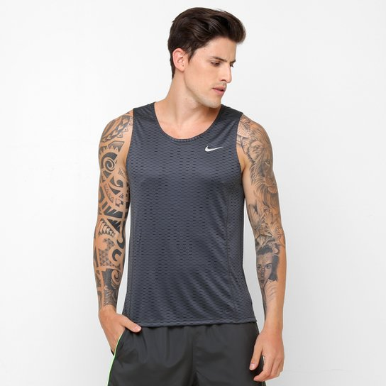 3c78d42fb55a8 Camiseta Regata Nike Dri-Fit Miler Fuse Single - Compre Agora