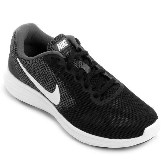 b9b0f9b3c9 Tênis Nike Revolution 3 Feminino - Preto e Branco