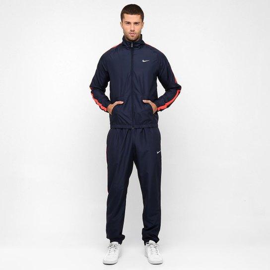 626152a2445 Agasalho Nike Season Woven Track - Marinho+Laranja