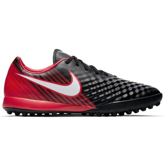 Chuteira Society Nike Magista Onda II TF - Preto e Branco - Compre ... 8e3ecbc84a70f