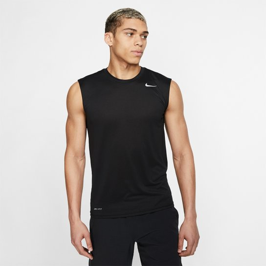 4dbcb62e5d2 Regata Nike Legend 2.0 Tee Masculina - Preto e Branco - Compre Agora ...