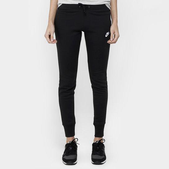 Calça Nike Nsw Flc Tight - Preto e Branco - Compre Agora  bf9efc0561cac
