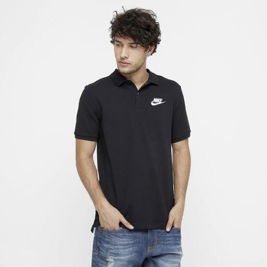Camisa Polo Nike Nsw Pq Matchp Masculina - Preto e Branco - Compre ... 053aef04fc6b7