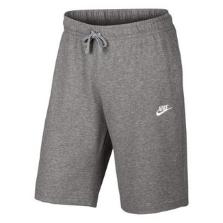 Bermuda Moletom Nike Jersey Club Reta Masculina c7f1fff6de031