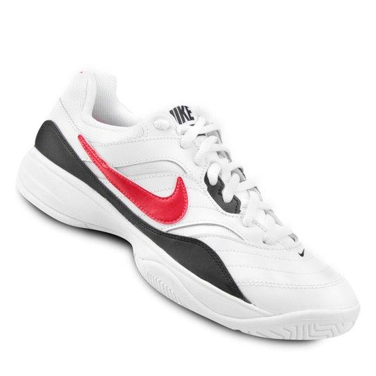 b2c1a0858a9 Tênis Nike Court Lite Masculino - Gelo e Vermelho - Compre Agora ...