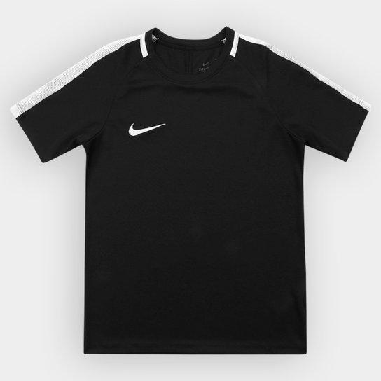 Camisa Infantil Nike Dry Academy SS - Preto e Branco - Compre Agora ... 21db8bb80bf74