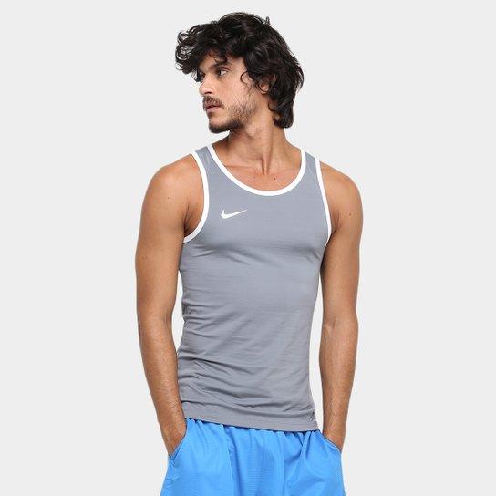 Camiseta Regata Nike SL Crossover - Cinza e Branco - Compre Agora ... a424e13e0a96a