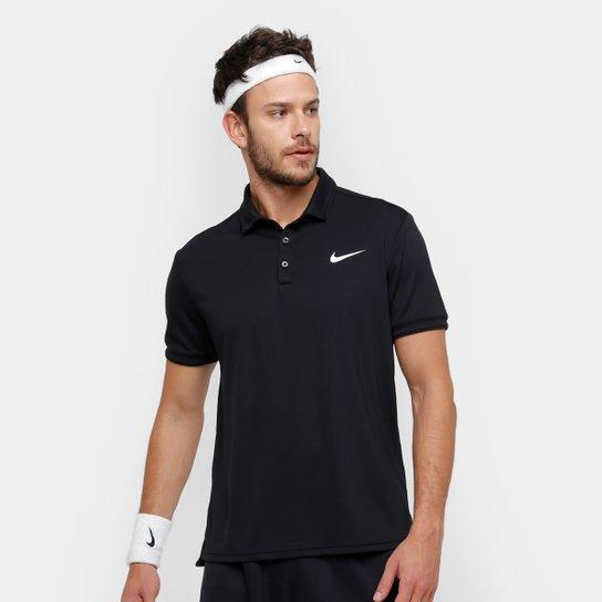 Camiseta Polo Nike Team Masculina - Preto e Branco - Compre Agora ... b58c23531181e