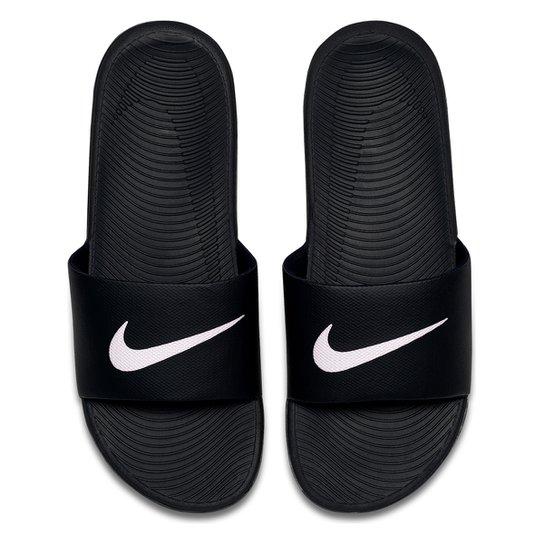 ae1ce11673 Sandália Nike Kawa Slide Masculina - Preto e Branco | Netshoes