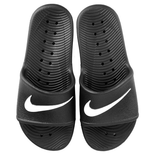 132f0b2b1d0 Sandália Nike Wmns Kawa Shower Feminino - Preto e Branco - Compre ...