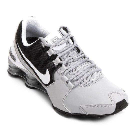 8b00a044b0ac9f Tênis Couro Nike Shox Avenue LTR Masculino - Cinza+Branco ...