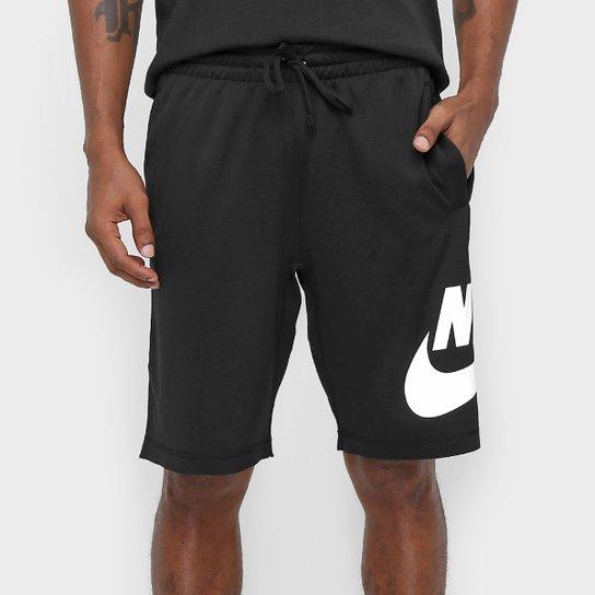 0aef5a6c6d Bermuda Nike SB Dry Reta Masculina - Preto e Branco - Compre Agora ...