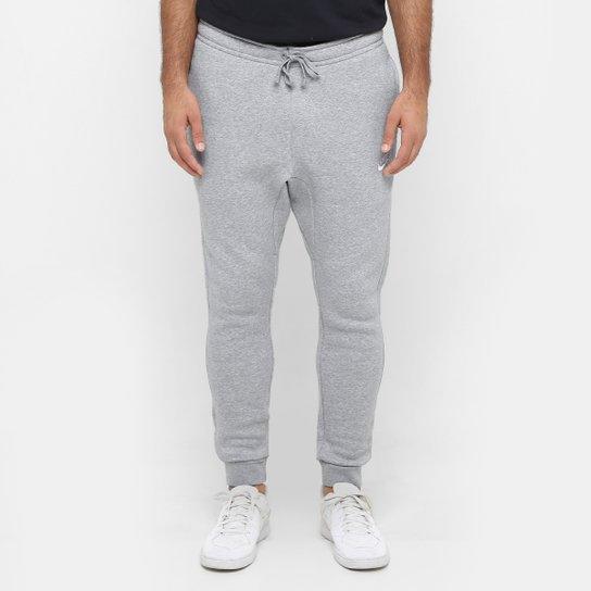 Calça Nike Nsw Jggr Club Flc Masculina - Cinza e Branco - Compre ... 475f171bb744d