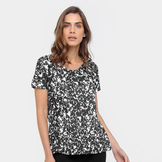 cce33f7966 Camiseta Nike Dri-Fit Miler Top Crew Print Feminina - Compre Agora ...