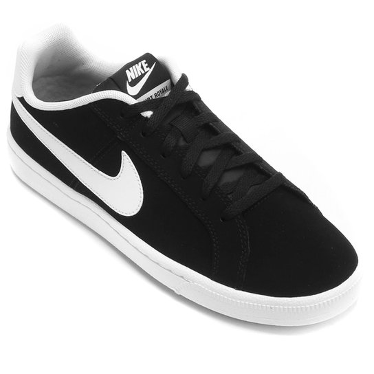 7e3c072f448 Tênis Infantil Couro Nike Court Royale Masculino - Preto e Branco ...