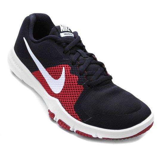 3cdd29f4856 Tênis Nike Flex Control Masculino - Preto+Branco ...