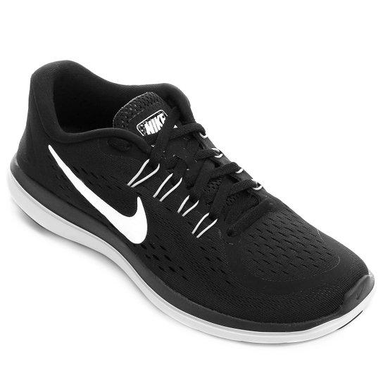 ad86e92e342 Tênis Nike Flex 2017 RN Feminino - Preto e Branco - Compre Agora ...