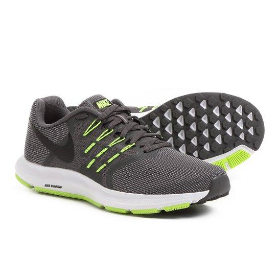 ab5b5c221cd Tênis Nike Run Swift Masculino - Chumbo+Verde Limão