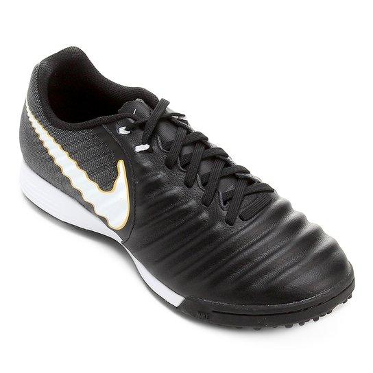 28b3cf4edea6c Chuteira Society Nike Tiempo Ligera 4 TF - Preto e Branco | Netshoes
