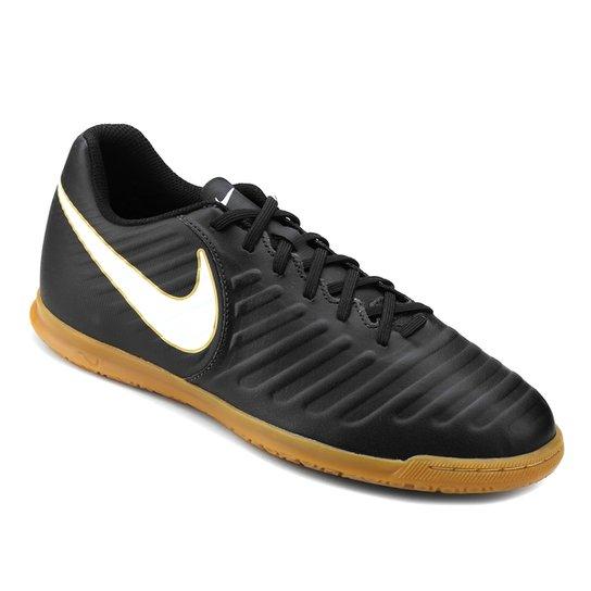 20a9aa846 Chuteira Futsal Nike Tiempo Rio 4 IC - Preto+Branco