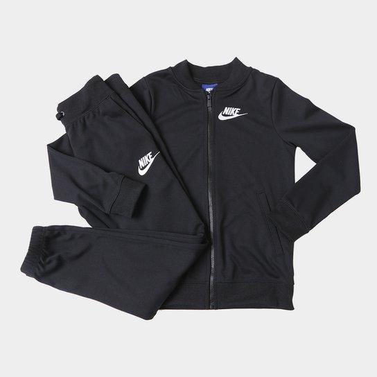 62d2b10cb8c64 Agasalho Infantil Nike Sportswear Track Suit Feminino - Preto+Branco