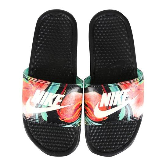 7cbb1c644d8 Sandália Nike Benassi Jdi Print Feminina - Preto e Branco - Compre ...