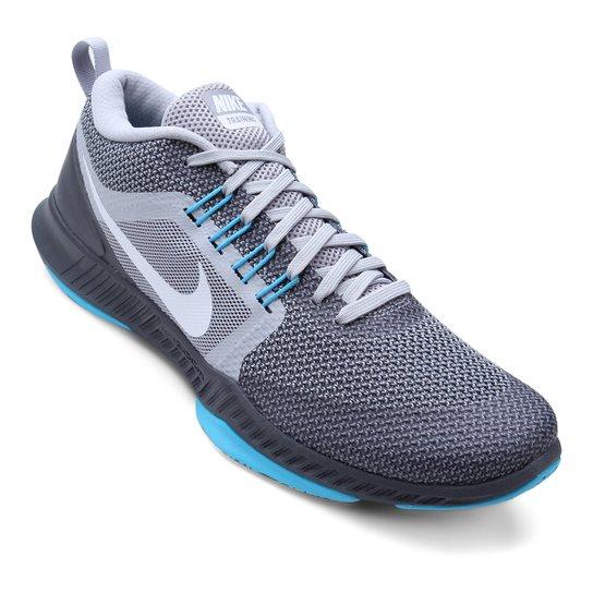cb6ae8573fe Tênis Nike Zoom Domination TR Masculino - Cinza e Branco - Compre ...