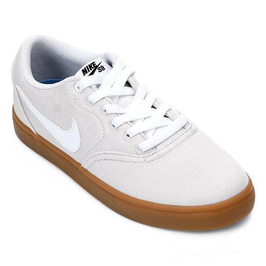 aa79d1797d726 Tênis Nike Wmns Sb Check Solar Cvs P Feminino - Cinza e Branco ...
