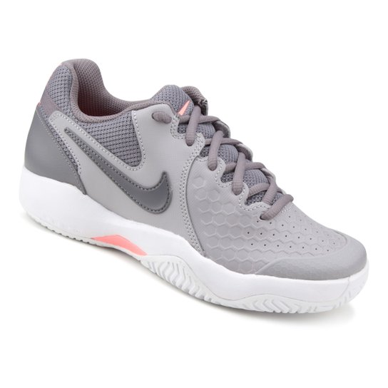 4749b5598af Tênis Nike Air Zoom Resistance Feminino - Cinza e Branco - Compre ...