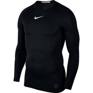 Camiseta Compressão Nike Pro Manga Longa Masculina 02eb1685c1c