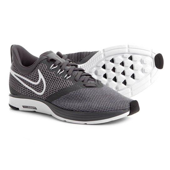 c5eea993ac Tênis Nike Zoom Strike Masculino - Cinza e Branco - Compre Agora ...