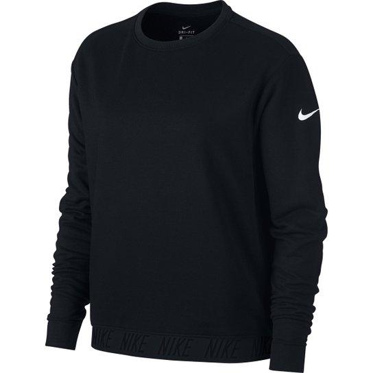 Camiseta Manga Longa Nike Dry Ls Crewneck Feminina - Compre Agora ... 16dfe78ee8ce9