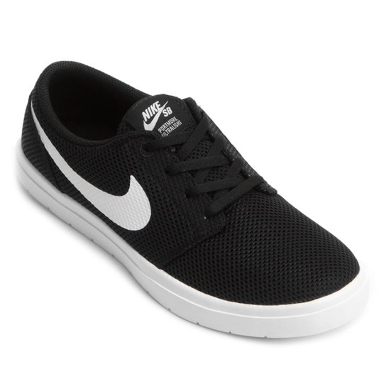 Tênis Nike SB Portmore II Ultralight Masculino - Preto e Branco ... ad728ee75a52a
