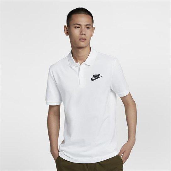 Camisa Polo Nike Matchup Piquet Masculina - Preto e Branco - Compre ... a2ee3edb5651c