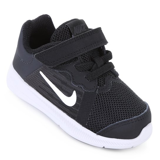 9e0aab96567 Tênis Infantil Nike Downshifter 8 TDV Masculino - Preto e Branco ...