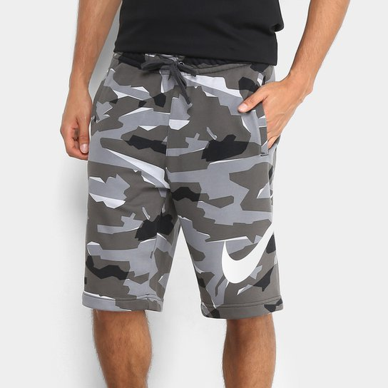 Bermuda Moletom Nike Camuflada Masculina - Compre Agora  cbaf8b81a2370