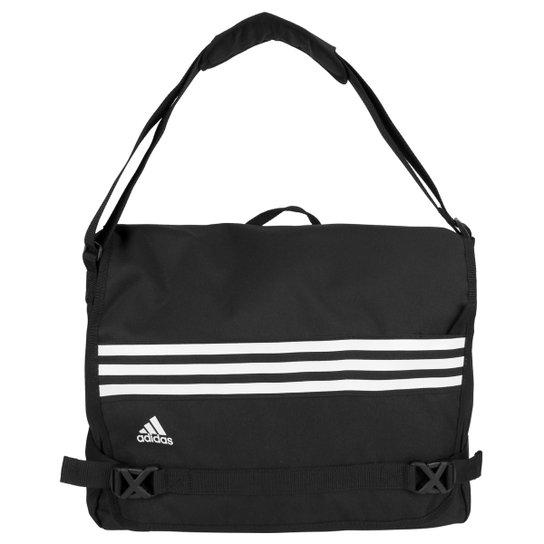564bfb95f Bolsa Adidas Messenger 3S Masculina - Preto+Branco
