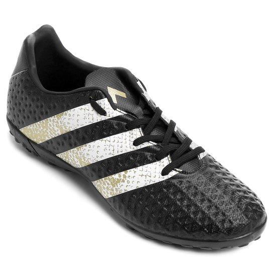 977b221644107 Chuteira Society Adidas Ace 16.4 TF Masculina - Preto e Branco ...