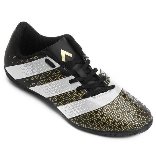 Chuteira Futsal Adidas Artilheira IN Masculina - Preto e Dourado ... 05eab6f54e88d