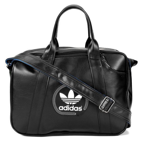 bd80cd32e Bolsa Adidas Originals Airliner Perf Adicolor - Preto+Branco