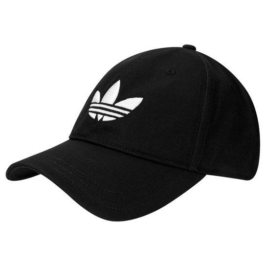589fe88415 Boné Adidas Originals Trefoil - Preto+Branco