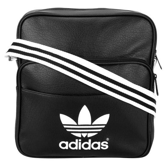 413aefc27 Bolsa Adidas Sir Bag Adicolor - Preto+Branco