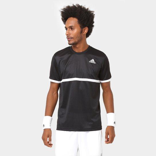 e338e1015425e Camiseta Adidas Court Masculina - Preto e Branco - Compre Agora ...