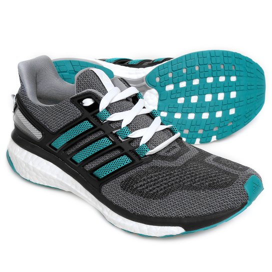 29fa3863f47 Tênis Adidas Energy Boost 3 Masculino - Cinza e Verde Água - Compre ...